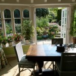 Breakfast and evening meals can be served in the conservatory